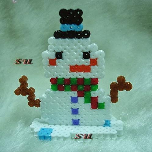 小威的串珠部落:拼豆.膠珠~聖誕快樂