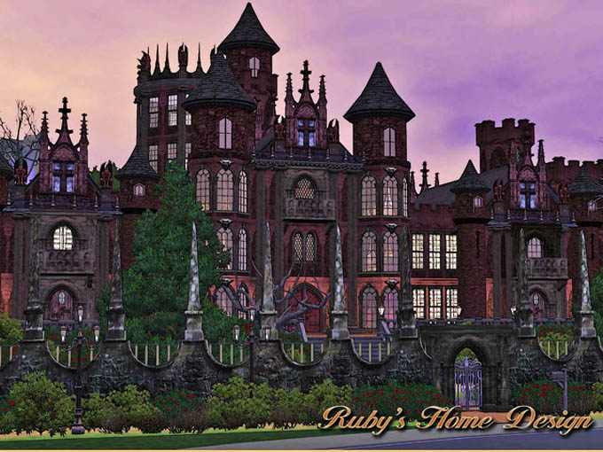 Sims Red Castle Ruby Home Design