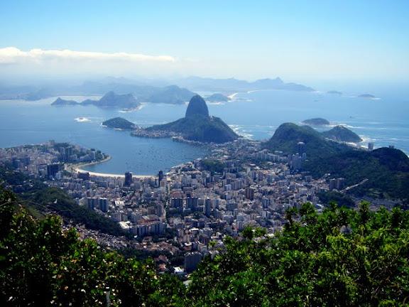 Rio de Janeiro as seen from the Christ the Redeemer Statue in Brazil
