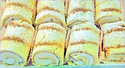 Rollino – gefüllte Biskuit-Röllchen