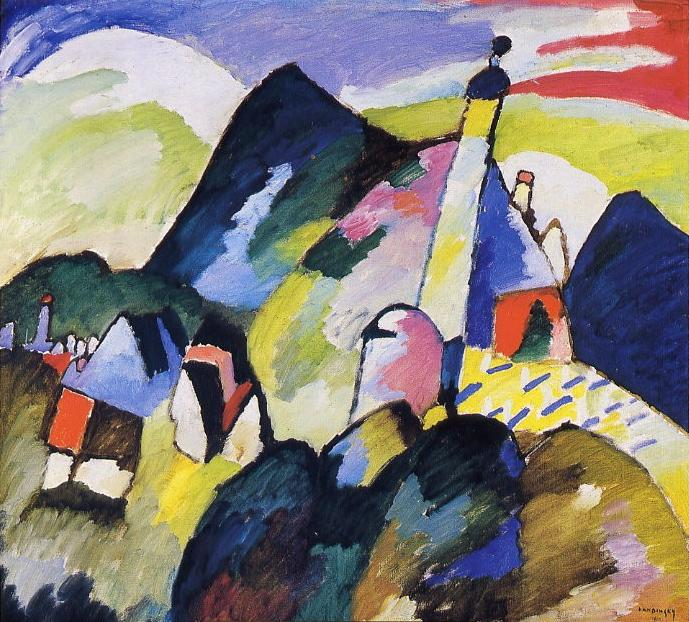 Wassily Kandinsky – Murnau avec église II