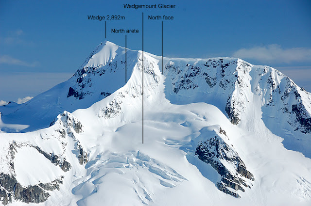 Photo showing components of Wedge Mountain