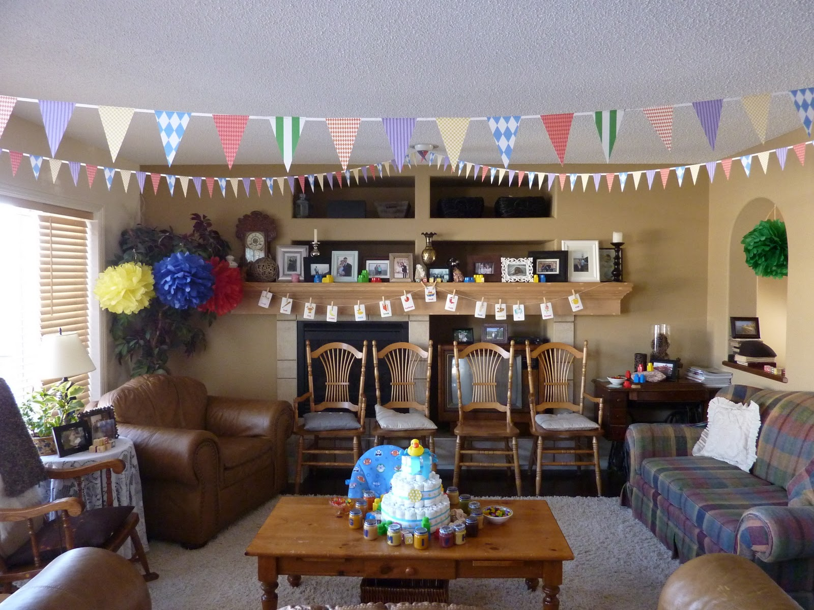 I Love The Look Of Bunting, And I Know It Has Been Around For A While But I  Just Had To Make Some. Actually My Husband Did All Of The Cutting For ...