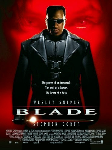 Poster Of English Movie Blade (1998) Free Download Full New Hollywood Movie Watch Online At Alldownloads4u.Com