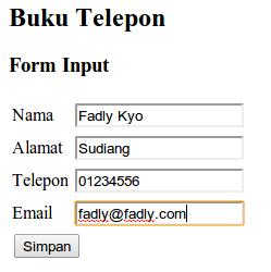 form input
