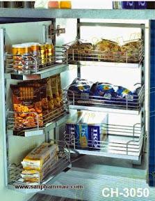 Kệ inox liên hoàn lắp tủ bếp