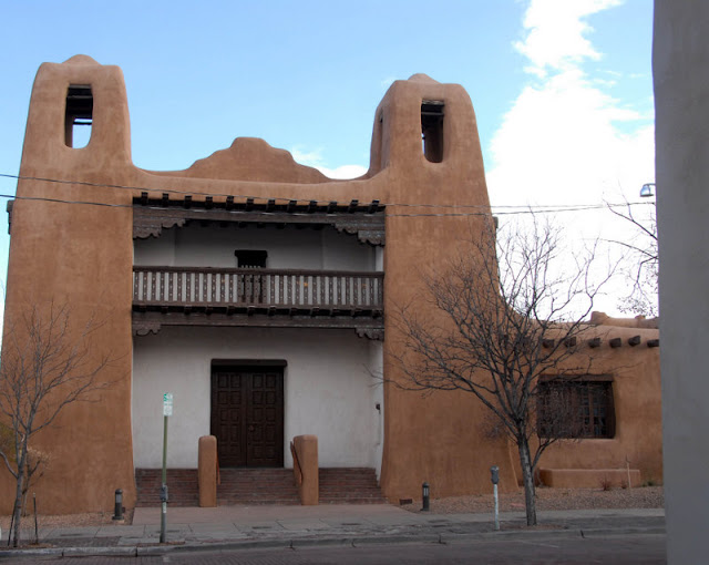 A large adobe building