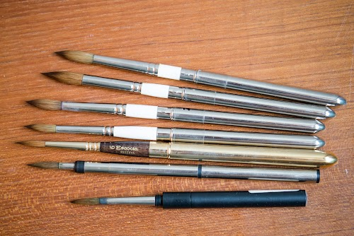 Rosemary Reversible Travel Watercolour Brushes