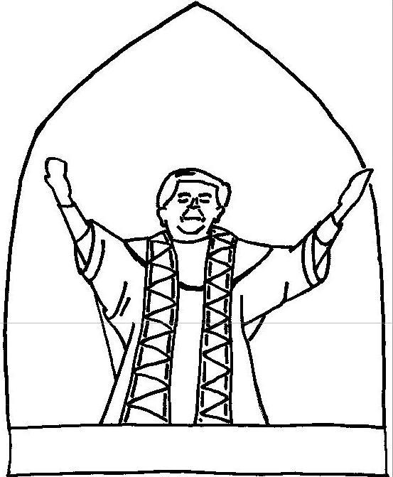 Papa Benedicto XVI para colorear