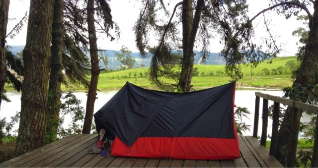One of out tents with a beautiful lake view & Needgreaters Pioneering in Ecuador: Camping trip Laguna De Busa