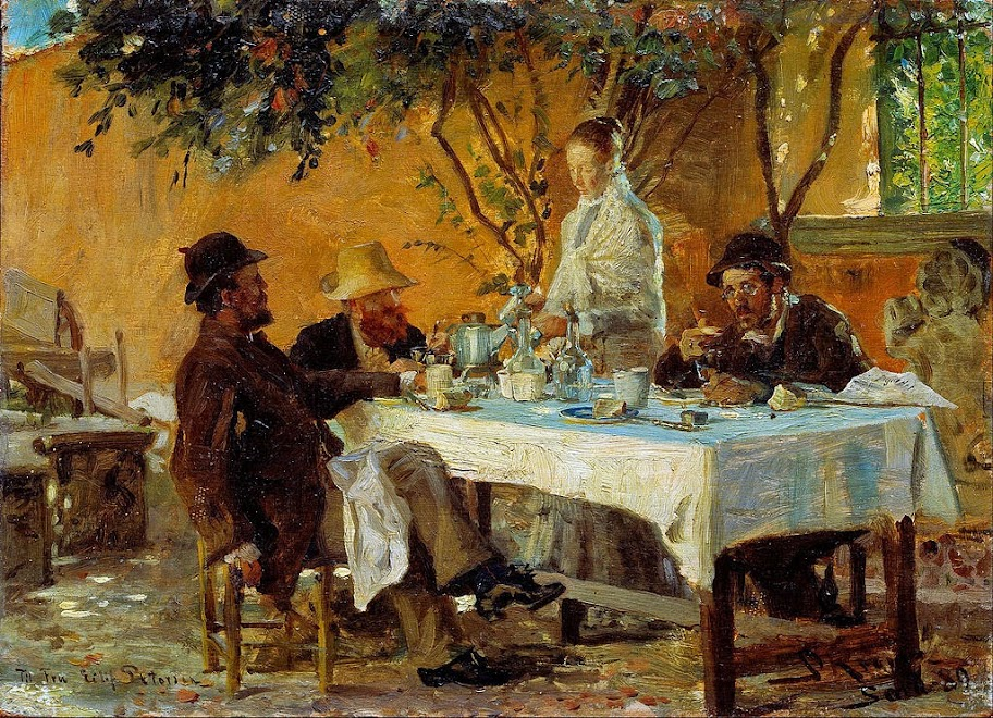 Peder Severin Krøyer - Breakfast in Sora - Google Art Project