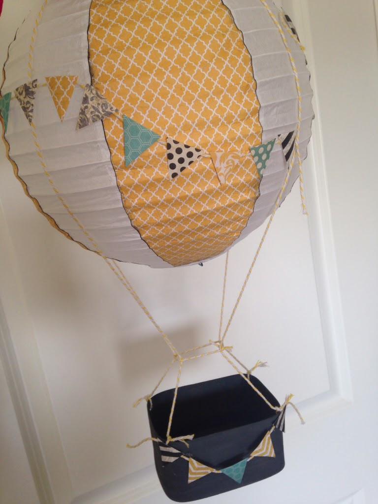 Hot air balloon decoration tutorial the style sisters for Paper lantern tutorial