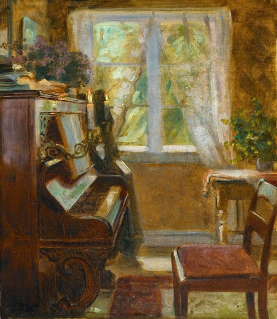 Bertha Wegmann - Interior with Wegmann's Piano