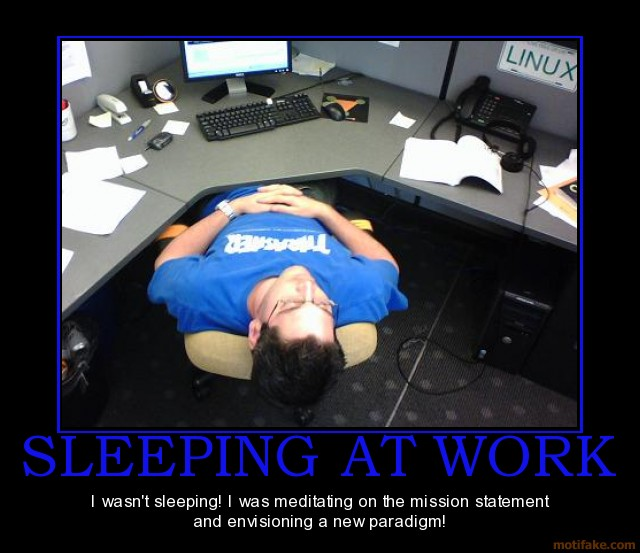 If You Get Caught Sleeping At Your Desk
