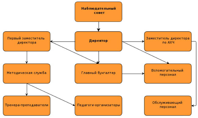Структура МАОУ ДОД ДЮСШ УМР
