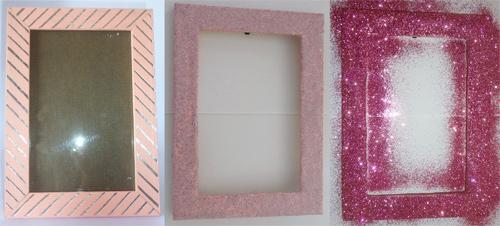 DIY - Porta-retrato com glitter
