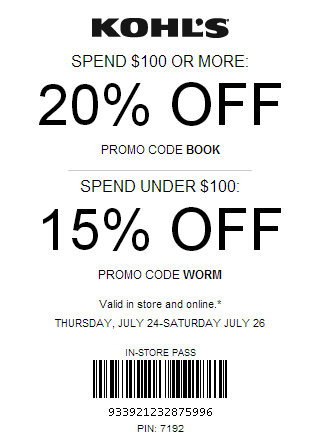New Kohls YesPass Coupon July 2014
