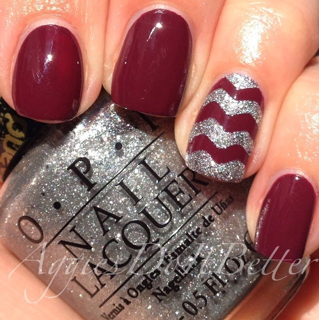 Image result for maroon chevron nail