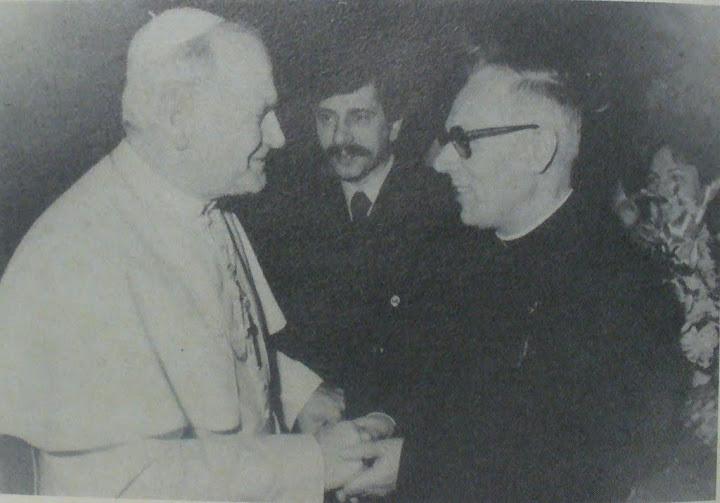 Giovanni Paolo II e mons. Bruno Gumiero