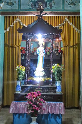 Hình ảnh kiệu Mẹ tháng hoa tại Giáo xứ