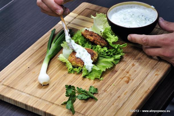 Falafel in salata verde