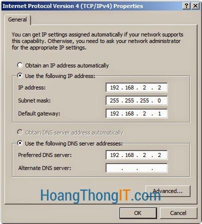 Cấu hình NAT trên windows server 2008