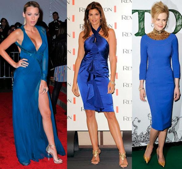 Resultado de imagem para como usar vestido azul marinho