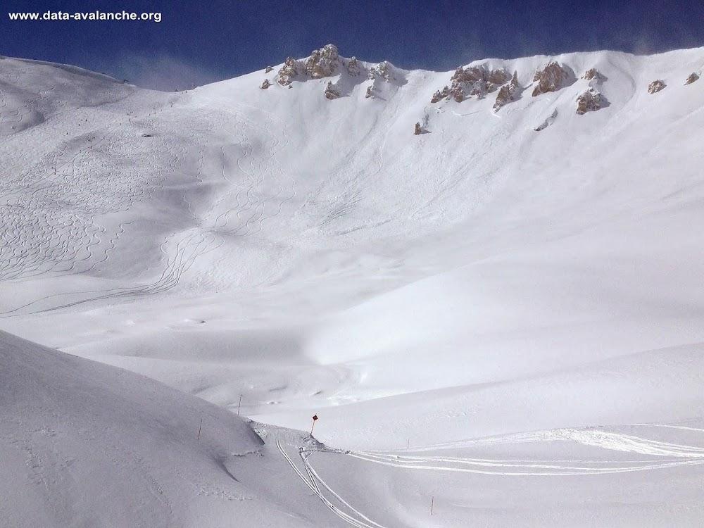 Avalanche Briançonnais, secteur Montgenèvre - Photo 1