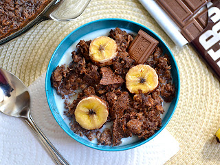 banana chocolate baked oatmeal