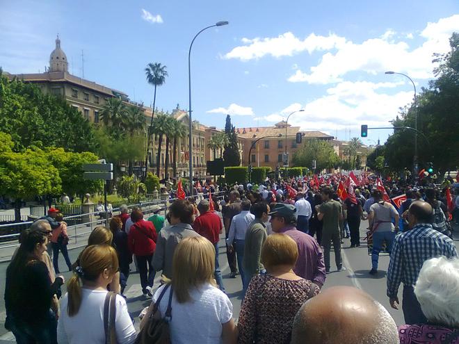 Manifestación Primero de mayo 2012 - Murcia