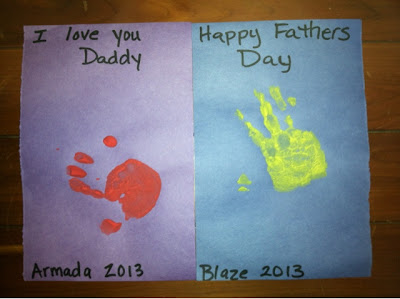 cards with handprints