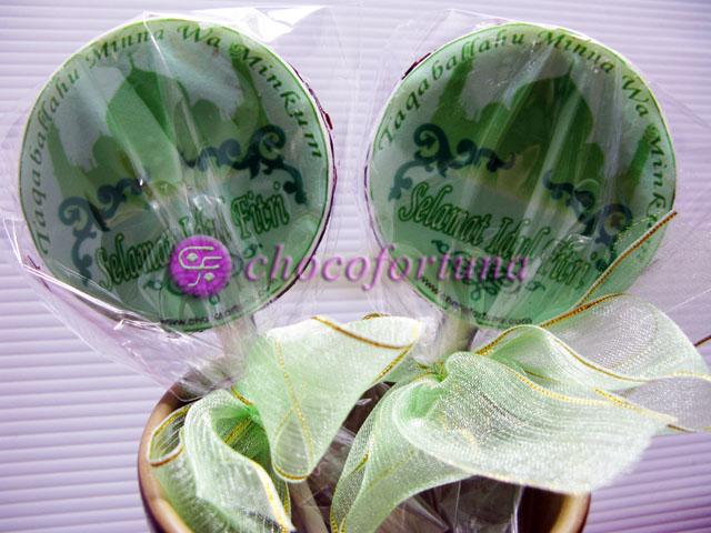 Coklat Lolipop Edible Idul Fitri Lebaran
