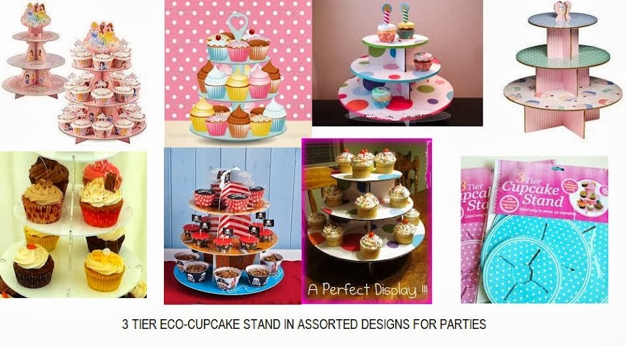 cute and easy to assemble 3 tier ecocupcake stand for parties