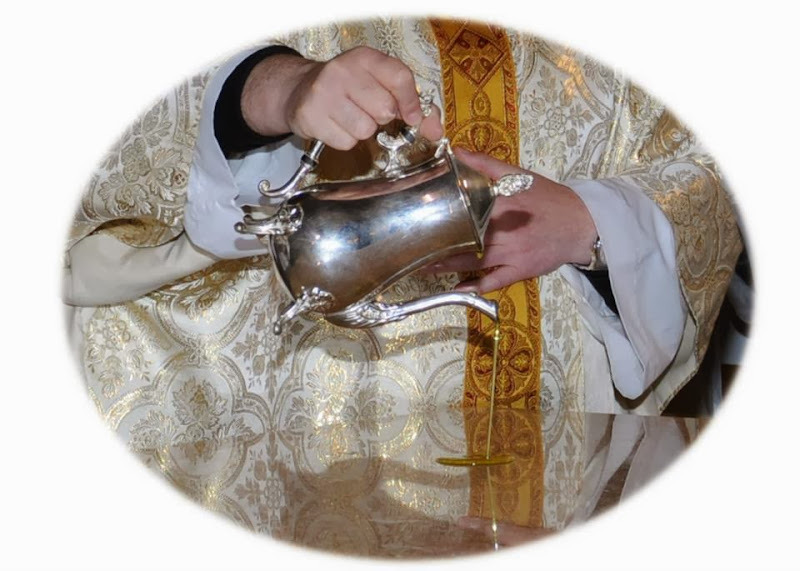 Óleo sobre el altar