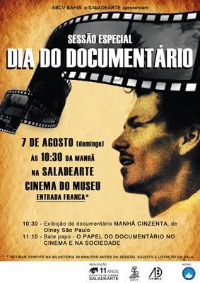 Sessão especial Dia do Documentário
