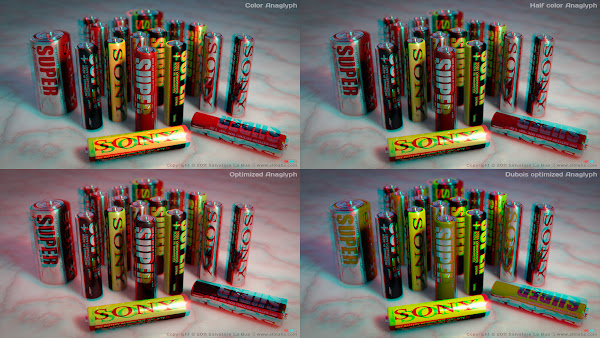 Sony Batteries Anaglyph