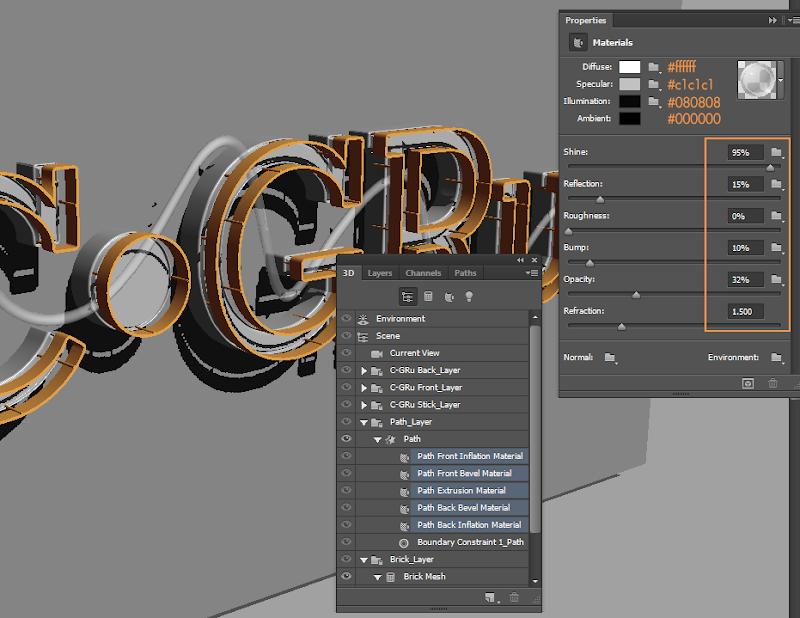 Photoshop - เทคนิคการสร้างตัวอักษร 3D Glowing แบบเนียนๆ ด้วย Photoshop 3dglow35