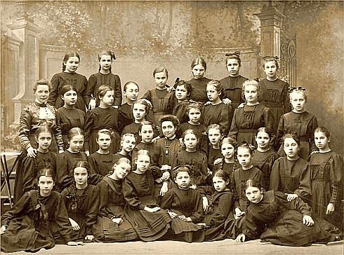 Мариинская женская гимназия, г. Пушкин, начало XX-го века