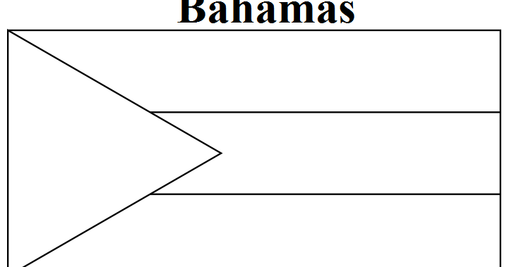 Geography blog bahamas flag coloring page for Bermuda flag coloring page
