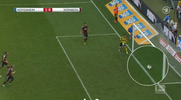GLT in the Bundesliga anyone? Kevin Volland (Hoffenheim) disallowed goal v Nurnberg