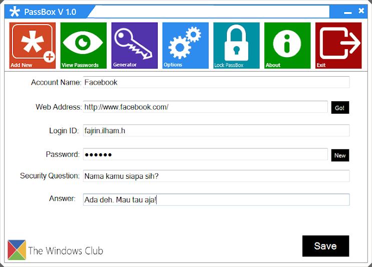 Wadah Semua Password Akun Dengan PassBox