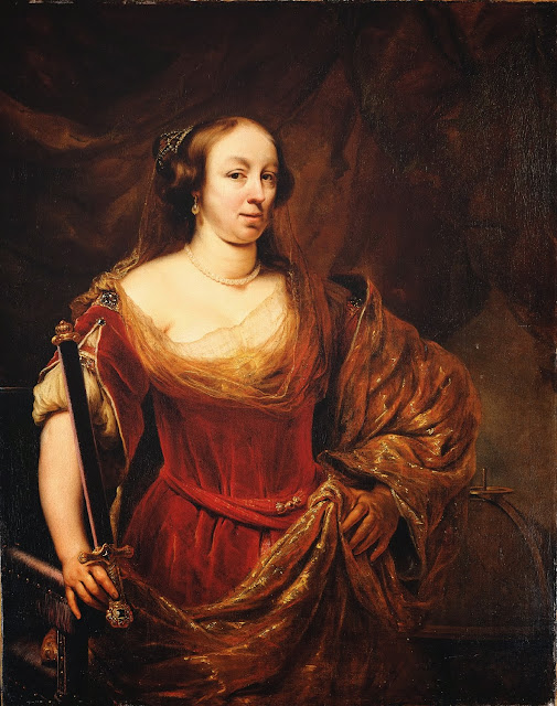 Ferdinand Bol - Portrait of Louise Marie Gonzaga de Nevers, Queen of Poland