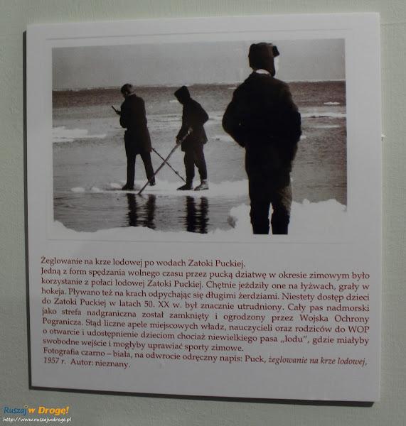 Muzeum Ziemi Puckiej - pocztówka żeglowanie na krze
