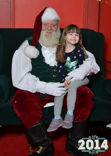 I Believe! Merry Christmas! Meeting Santa in 2014.