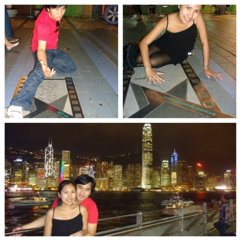 Above: Avenue of Stars Below: Symphony of Lighst at Hongkong