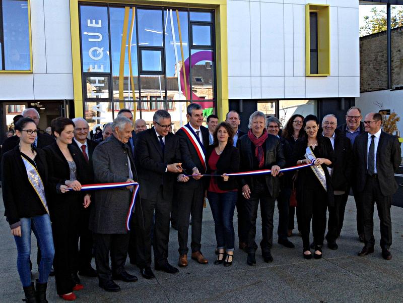 Inauguration de la médiathèque et du centre de loisirs de Saint-Jean-Brévelay le 5 novembre 2016