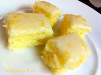 Lemony Lemon Brownies - Becky Charms