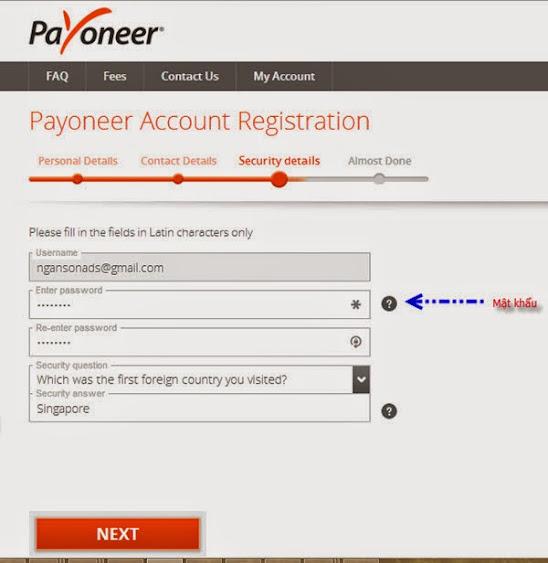 đăng ký payoneer