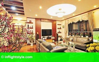 Hình 2: Phong thủy trang trí phòng khách đón Tết