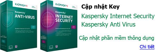Cập nhật Key Kaspersky, Software, Phần mềm thông dụng